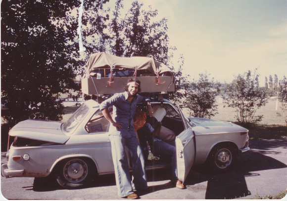 In my hippie phase on the way to University of Waterloo in the fall of 1973
